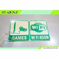 Stiker Sticker Cutting dinding pintu ruangan ruang games wifi room
