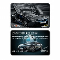 e-money e-toll mandiri bmw i8 car saldo 50rb emoney etoll
