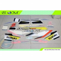 Striping Stiker Sticker Suzuki Smash 110 SR 2005 2006 biru hitam blue