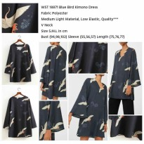 Blue Bird Kimono Dress (S,M,L) - 18871