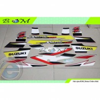 Striping Stiker Sticker Suzuki Smash 110 SR 2005 2006 merah hitam red