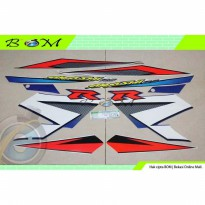 Striping Stiker Sticker Suzuki Arashi R 125 2006 Putih Biru blue white