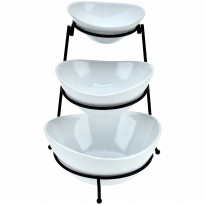 OVAL BOWL W/RACK 3pc - S0684