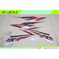 Striping Stiker Sticker Honda BeAT eSP FI Sporty 2018 merah putih