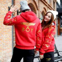 Jaket Couple / Baju Pasangan / Resleting Boy Red