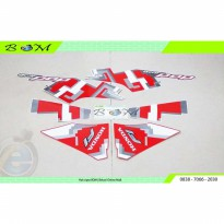 Striping Stiker Sticker Honda Beat Pop esp cool Pixel 2017 putih merah
