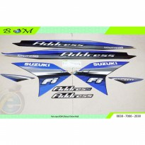 Striping Stiker Sticker body Suzuki Address 115 FI 2015 biru blue
