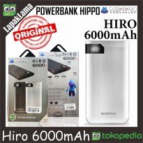 PowerBank Power Bank HIPPO Hiro 6000mAh Original 100% Powerbank ORI