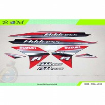 Striping Stiker Sticker body Suzuki Address 115 FI 2015 merah red