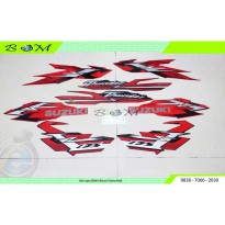 Striping Stiker Sticker list body suzuki thunder 125 merah red 2007