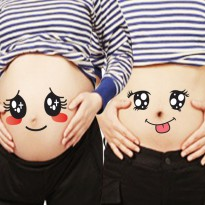 Stickers On Belly ( Stiker foto perut couple / family