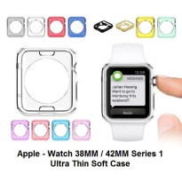 Apple Watch iWatch 42 mm 42mm Series 1 - Ultra Thin Case Bumper Silikon Soft Cover Casing