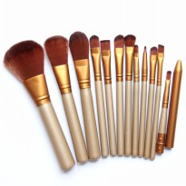 12 pcs Gold Makeup Brush + box