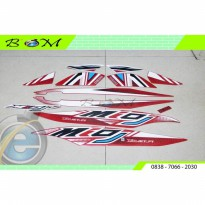 Striping Stiker Sticker mio j teen fi merah putih red metallic 2012