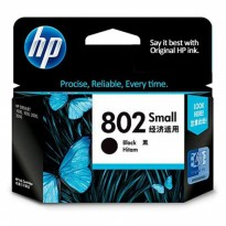 Cartridge Printer HP 802 Black small Ink Original