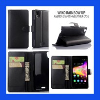 Wiko Rainbow Up 4G Agenda Standing Leather Book Case Casing Cover