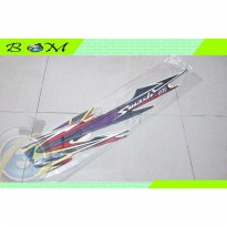 Striping Stiker Sticker list body suzuki smash 110 2004 hitam merah