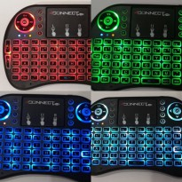 4Connect i8 RGB Wireless Mini Keyboard with TouchPad & Air Mouse