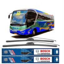 Bosch Sepasang Wiper Mobil Bus/Bis All New Legacy Frameless New Clear Advantage (28' & 28')