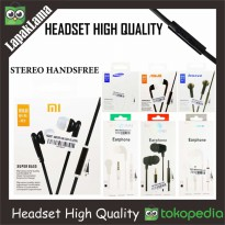 Headset High Quality Asus Huawei Xiaomi Lenovo Sony Samsung ALL TYPE