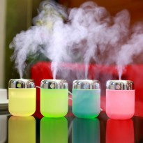 Small Fish Humidifier USB Charging With Color LED Lamp Humidifier - 180ml