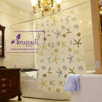Shower Curtain STarfish Tirai Kamar Mandi Anti Air Waterproof