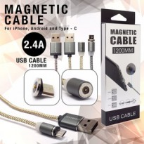 Kabel Magnetic Cable Type C Charger USB 2.4A Fast Charging.