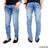 Men Jeans Slim Fit Jeans Stretch Blue – CLN 979