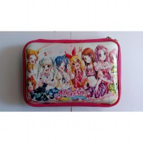 HPO (Hard Pencil Case Organizer/Tempat Pensil) model Smiggle - Aikatsu