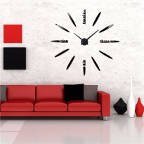 DIY Giant Wall Clock Straight Cell