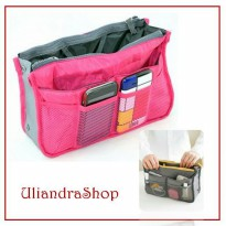 Bag In Bag Travel Organizer Dual Tas Tempat Penyimpanan Handphone Charger Powerbank (BBO)
