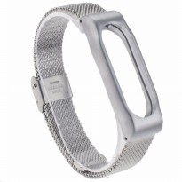 MiJobs Stainless steel bracelet for MiBand 2 Gold/Black/Silver