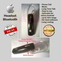 Headset Bluetooth iPhone | Handsfree | Earphone Bluetooth iPhone