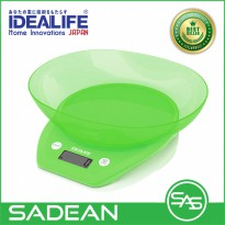 Digital Kitchen Scale Bowl 5Kg 1gr timbangan kue IDEALIFE IL-210