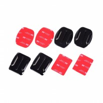 Curved and Flat Surface 4pcs Mount 3M Adhesive Sticker GoPro Xiaomi