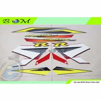 Striping Stiker Sticker Suzuki Arashi R 125 2006 merah putih red white