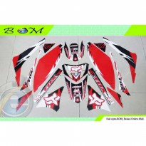Striping Stiker Sticker kawasaki trail klx fox 150 merah red
