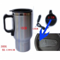 Heated Drinking Mug Car Water Heater Pemanas Air Elektrik Mobil 12V