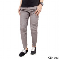 Chino Celana Panjang Slim Fit Chinos Stretch Grey – CLN 983