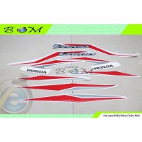 Striping Stiker Sticker honda vario fi 125 150 LED 2018 putih merah