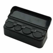 Car Coin Pocket Case Storage 4 Slot Holder Organizer Tempat Uang Koin