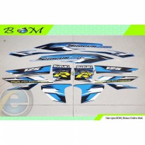 Striping Stiker Sticker suzuki shogun rr 125 2008 biru hitam
