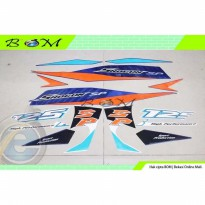 Striping Stiker Sticker suzuki shogun sp 125 125sp 2008 biru putih