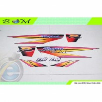 Striping Stiker Sticker suzuki shogun 110 R 110r 1997 1999 hitam