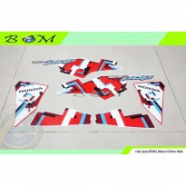 Striping Stiker Sticker Honda Beat Pop esp cool Pixel 2018 putih merah