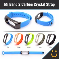 Xiaomi Mi Band 2 Strap Replacement Silicone Carbon Crystal