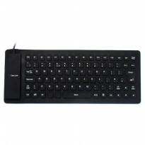 Keyboard Flexible Full Size, Portable USB Fleksibel, Murah Mudah