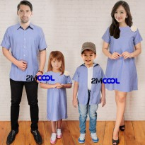 Gaun/Dress Kemeja/Hem Couple Mr. Beckham / Baju Family / Family Set / Couple Family / Baju Sarimbit / Baju Keluarga / Baju Couple / Baju kembar / Baju Pasangan Keluarga / Baju ayah ibu 2 anak terbaru