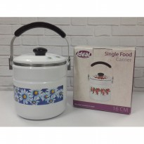IDEAL Single Food Carrier / Rantang Tunggal Bahan Enamel Ukuran16 cm