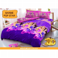Sprei Kintakun uk 180x200 Motif Barbie